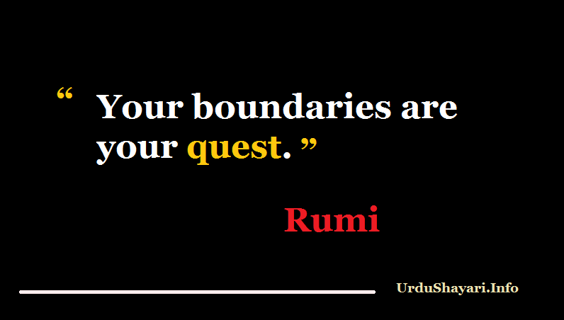 One Line rumi quotes, short words, soul touching