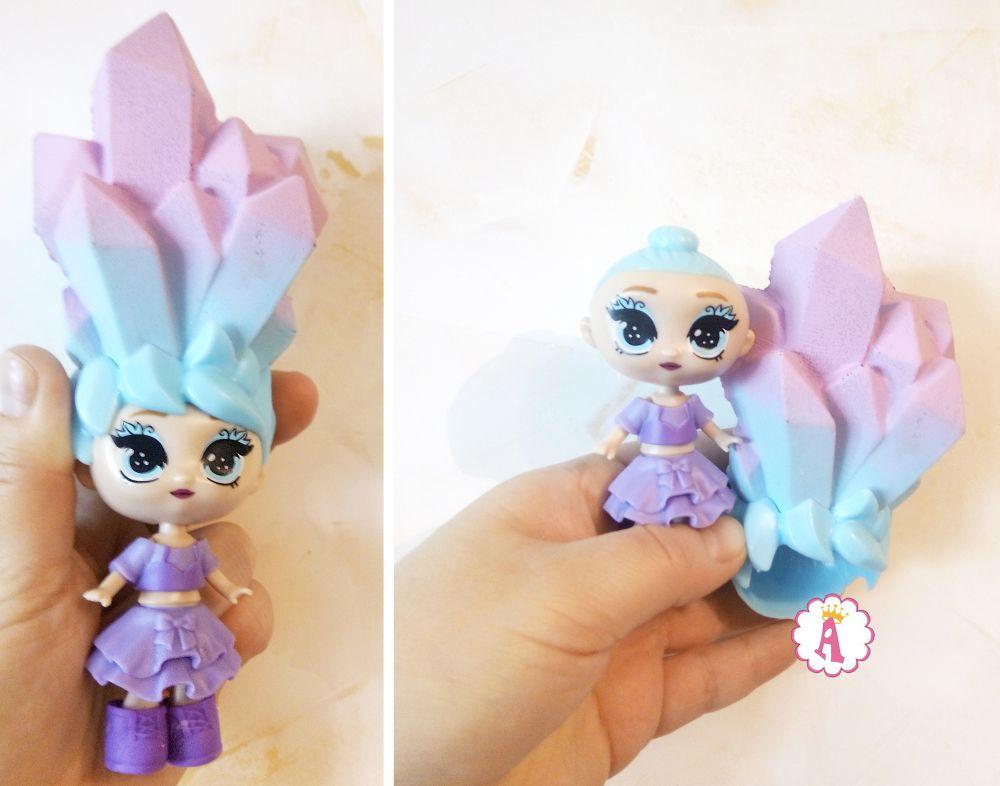 Парик на голове куклы Blume Dolls распаковка Queen Alice Toys