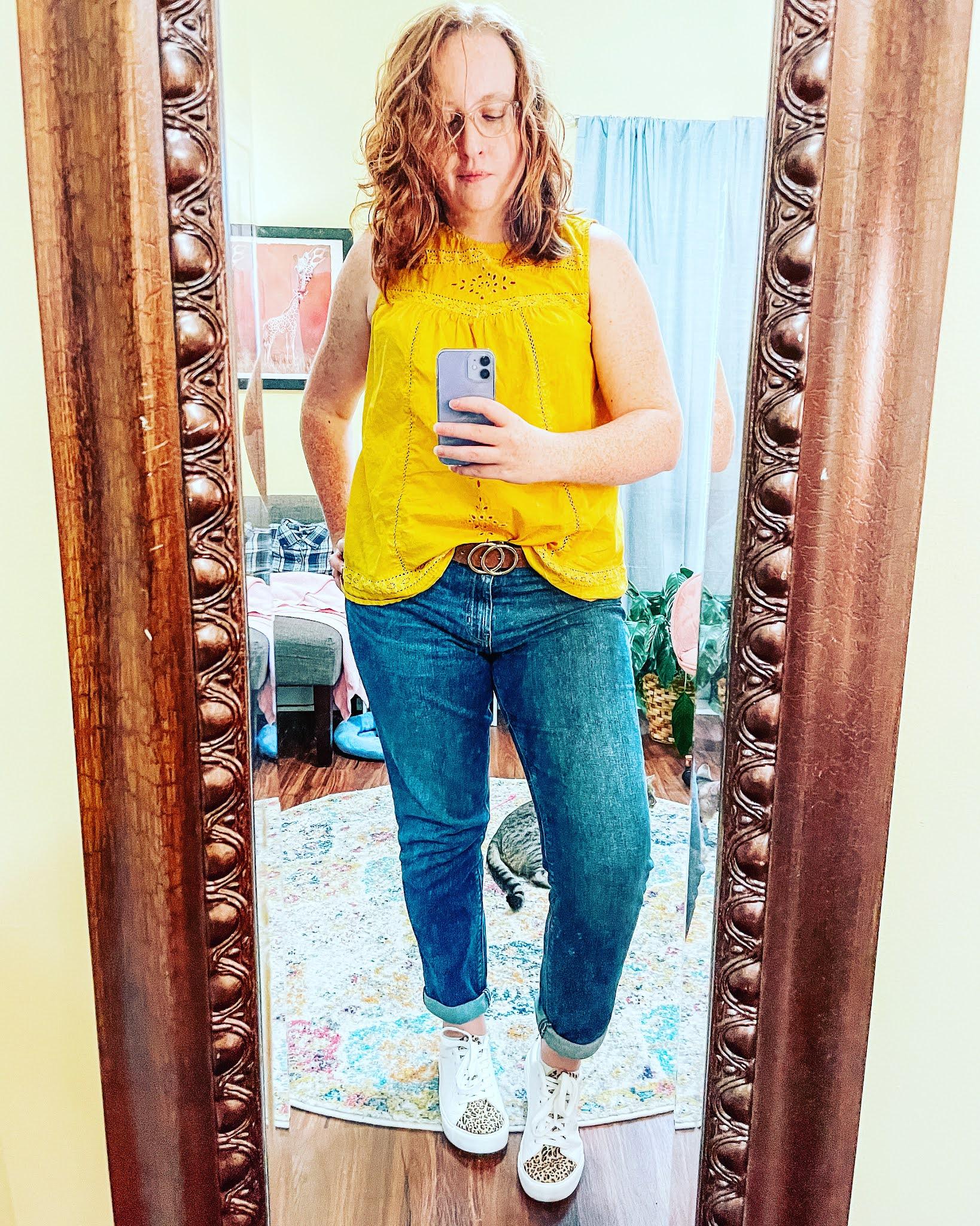 yellow-tank-boyfriend-jeans-leopard-sneakers