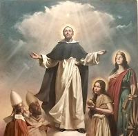 """New Altarpiece for the Dominican Church of Vittoriosa, Malta: """"The Glory of St. Dominic"""" by Manuel Farrugia"""