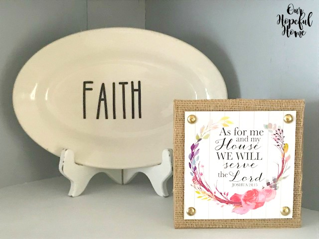 Rae Dunn Faith plate Joshua 24:15 wall art