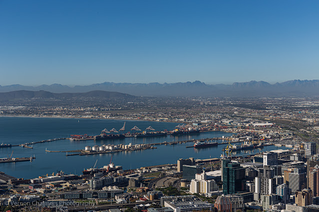 Cape Town Harbour   Table Bay view from Signal Hill Vernon Chalmers Photography