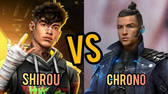 مقارنة بين شخصية شيرو و كرونو في فري فاير