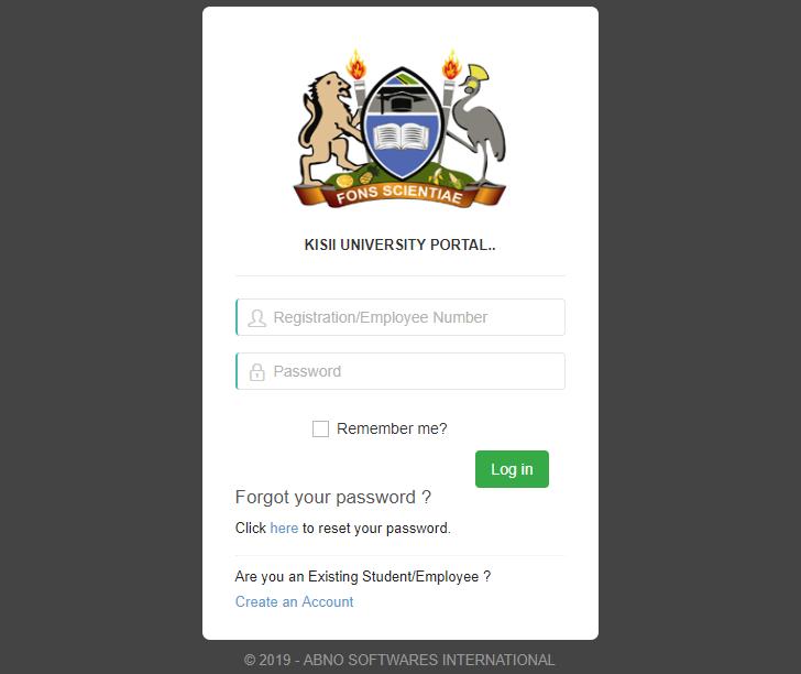 Kisii University Student Portal