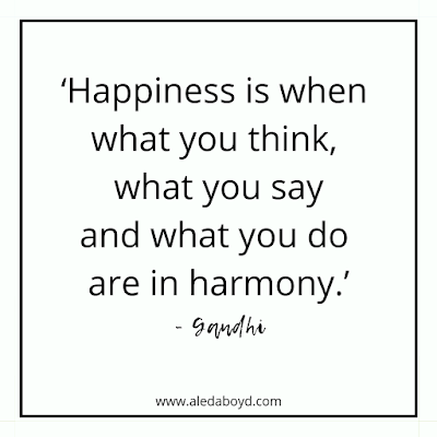Quotes by Gandhi on Happiness