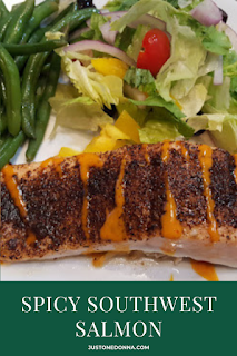 A quick and easy recipe for a delicious salmon dish packed with Southwest flavor.