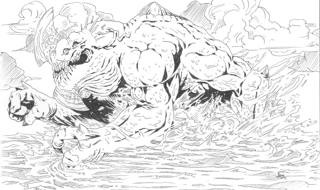 Pacific Rim Kaiju Coloring Pages Coloring Pages