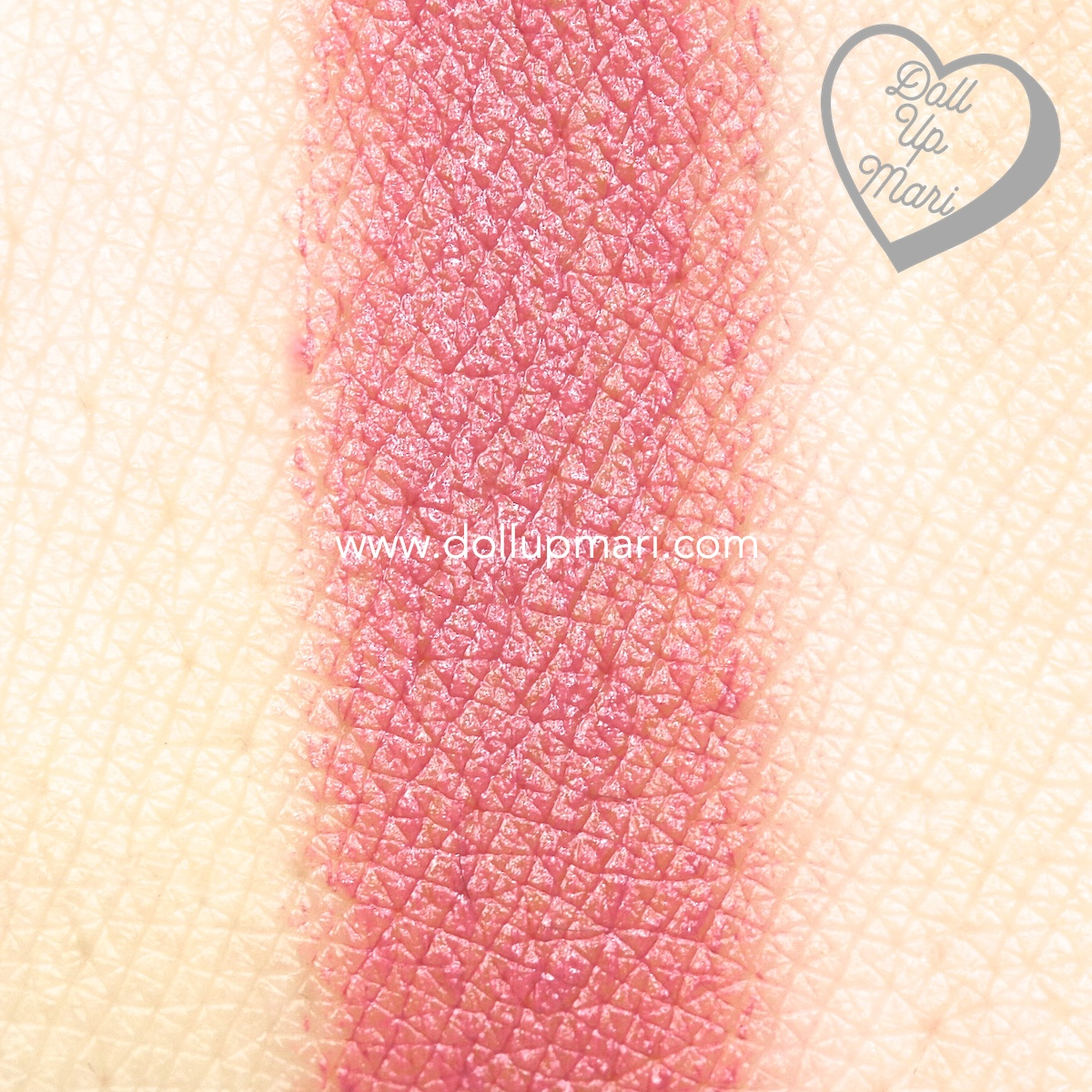 swatch of Pink Truffle shade of AVON Perfectly Matte Lipstick