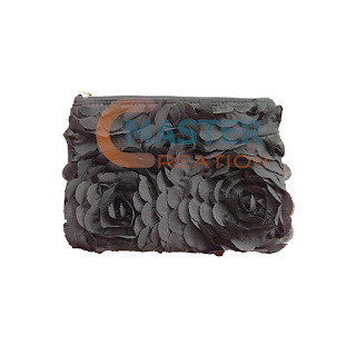 black rose knitted bag