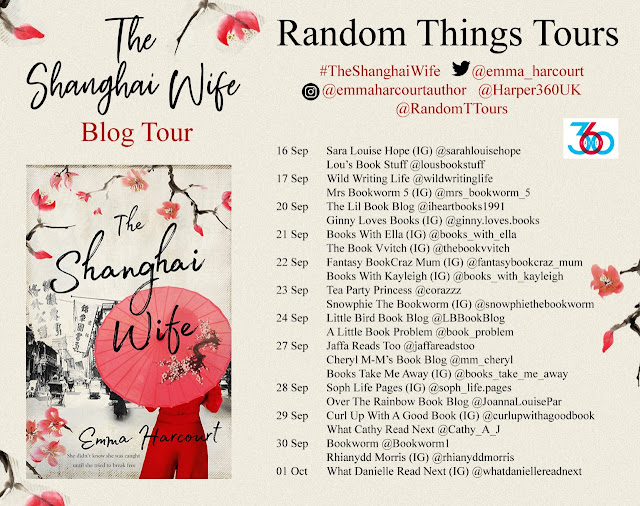 The Shanghai Wife by Emma Harcourt blog tour banner