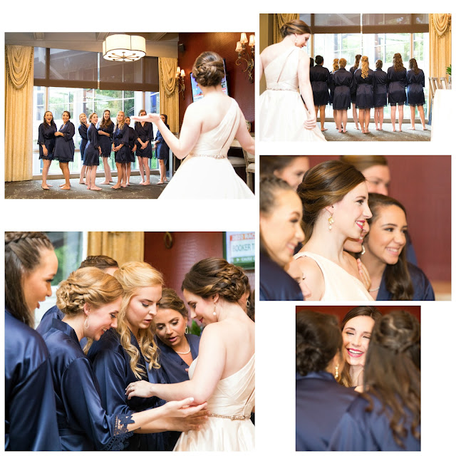 Bridal Party Reveal Photos _ Makeup by Keri Ann _ Lawrence Elizabeth Knox Photographer _ HRC