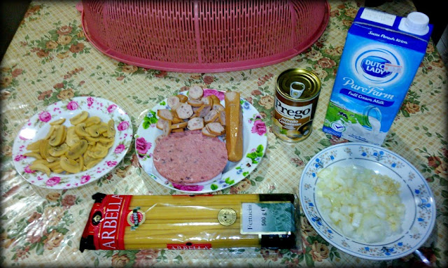 Bahan-bahan Resepi Istimewa Suami - Pasta Sos Carbonara