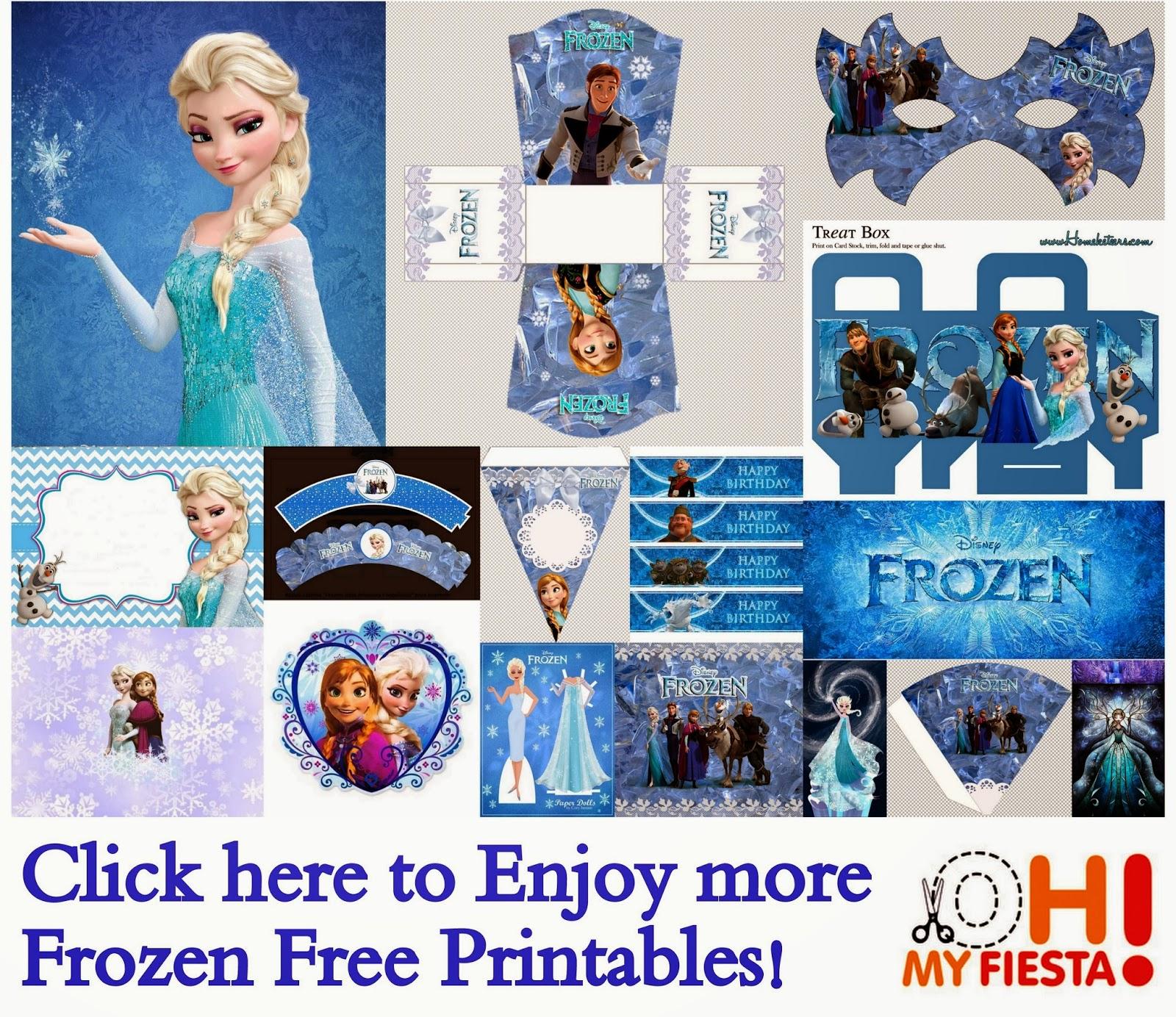 frozen free printable