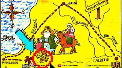 Mapa de Canaã