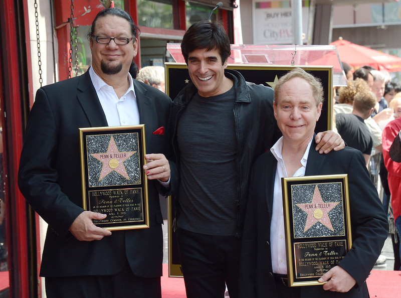wild about harry penn teller join houdini and copperfield on  penn teller join houdini and copperfield on the walk of fame