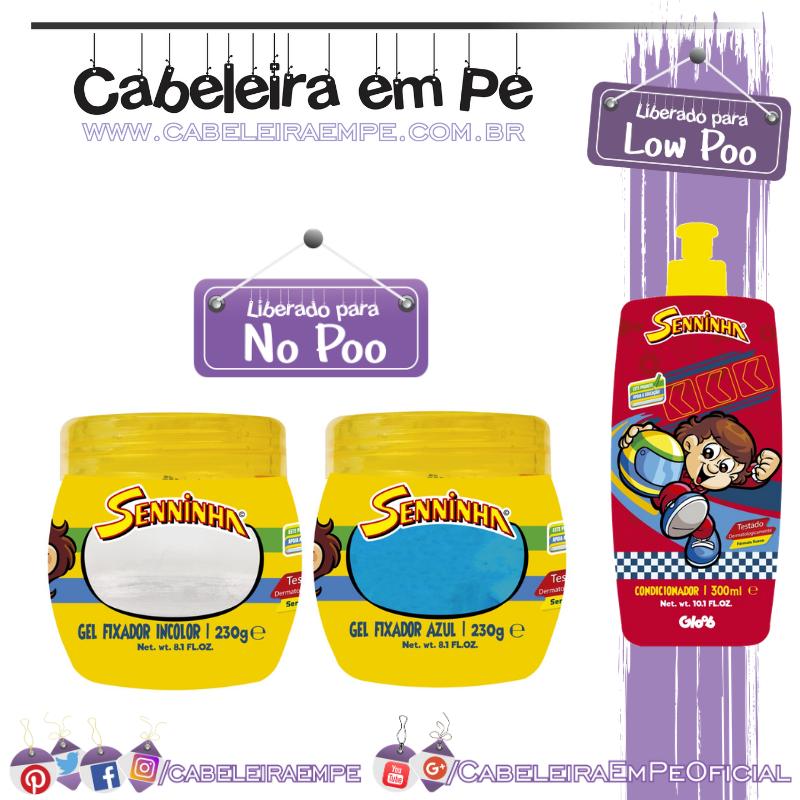 Condicionador (Low Poo) e Géis (No Poo) Senninha - Kanechom