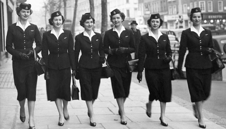 A Vintage Nerd, Vintage Blog, Links to Love, Vintage Articles, 1950s Stewardess