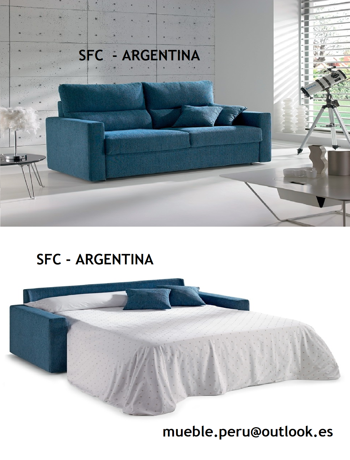 Sofa Sfc Comfortable Sleeper Bed Mueble Peru Sakuray Cama Americano Argentina