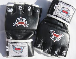 Women Martial art glove black