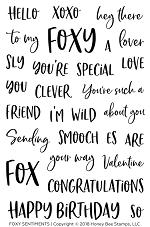 Foxy Sentiments Stamp Set