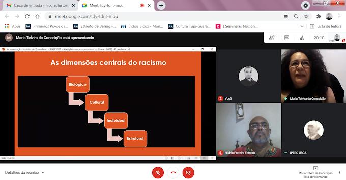 Professora Telvira e professor Hilário debateram a Abolição da Escravatura e o Racismo Estrutural no Cariri