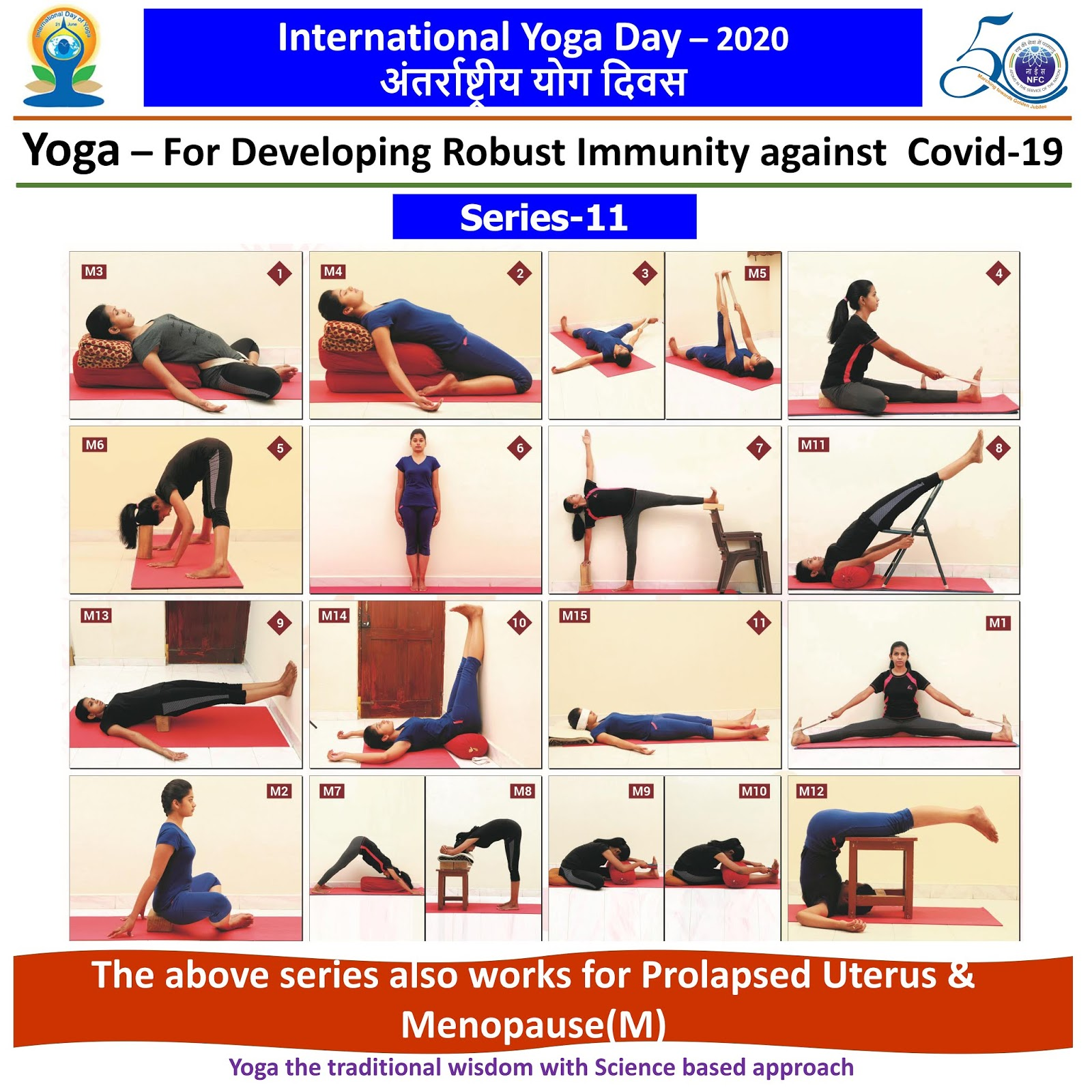 Happy International Yoga Day ... This series also works for Prolapsed Uterus & Menopause(M)  IMAGES, GIF, ANIMATED GIF, WALLPAPER, STICKER FOR WHATSAPP & FACEBOOK