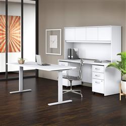 white ergonomic office furniture - Bush Studio C
