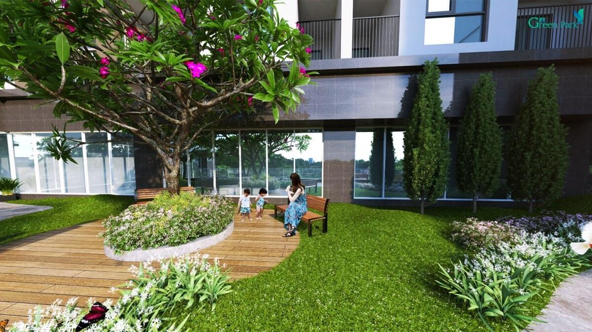 Khuôn viên xanh dự án số 1 Trần Thủ Độ