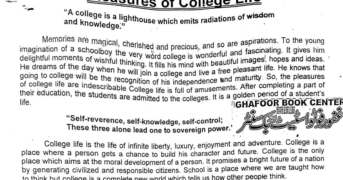 Pleasure Of College Life Essay Quotes  Mistyhamel Essay On College Life Pleasures Of