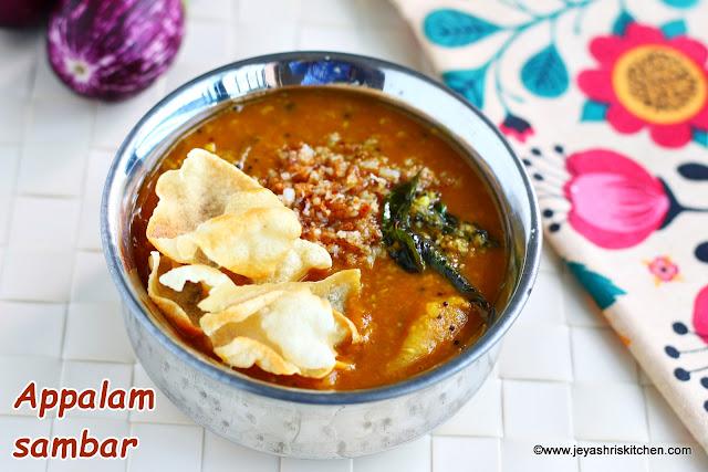 Appalam-sambar