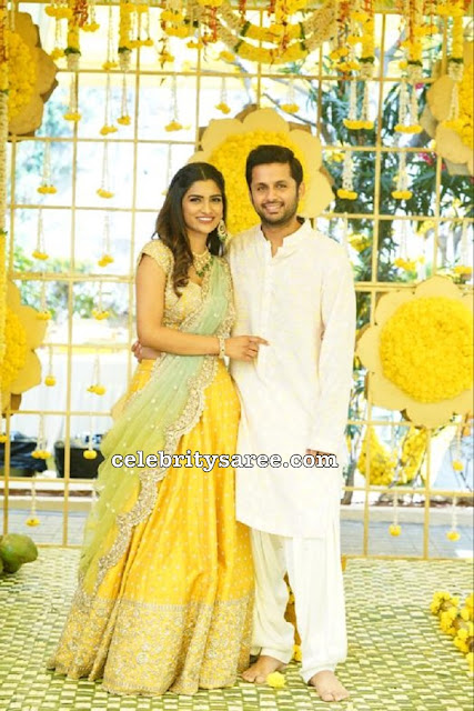 Actor Nithin and Shalini Engagement