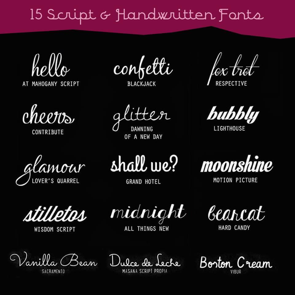 15 Jenis Font Script Handwritten Ini Bagus Digunakan Untuk Membuat