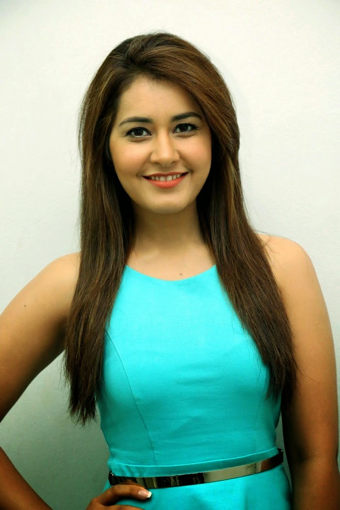 Kollywood Actress Rashi Khanna Latest Photo shoot In Sky Blue Dress