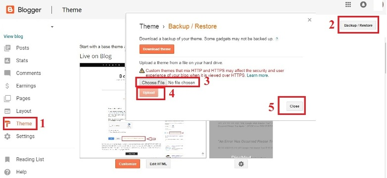 How to Install Template/Theme in Blogger Blog