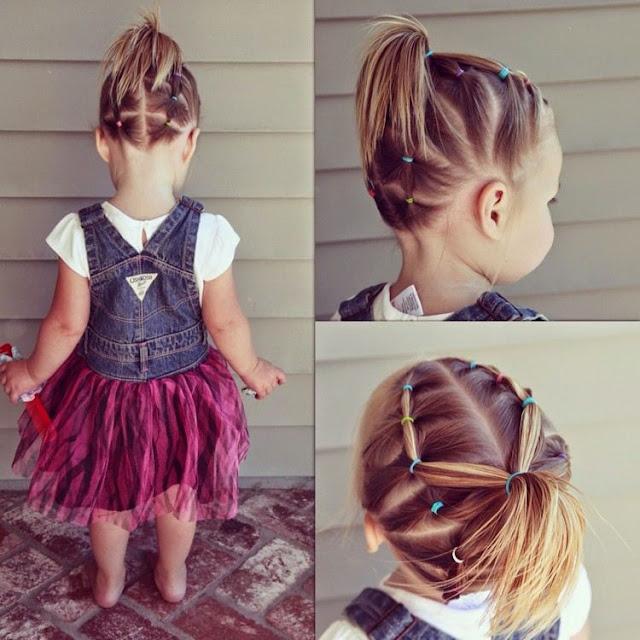 تسريحات بنات صغار شعر قصير