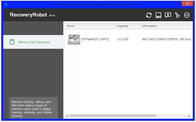Screenshot RecoveryRobot Memory Card Recovery 1.3.1 Full Version