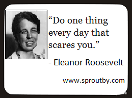 Do one thing every day that scares you, #motivationalquotes
