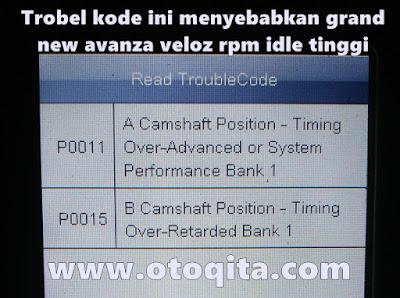 Kode trobel penyebab rpm idle tinggi avanza dual vvt-i