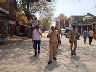 जौनपुर : लॉक डाउन में सब्जी, और मेडिकल स्टोर रहा खुला