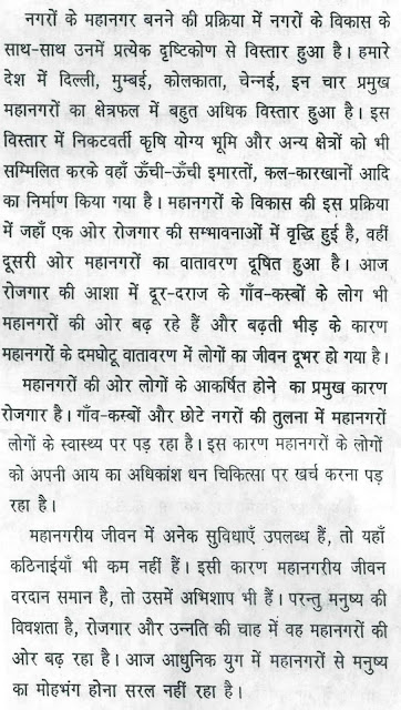 Essay on Advantage And Disadvantage of Metropolis in Hindi