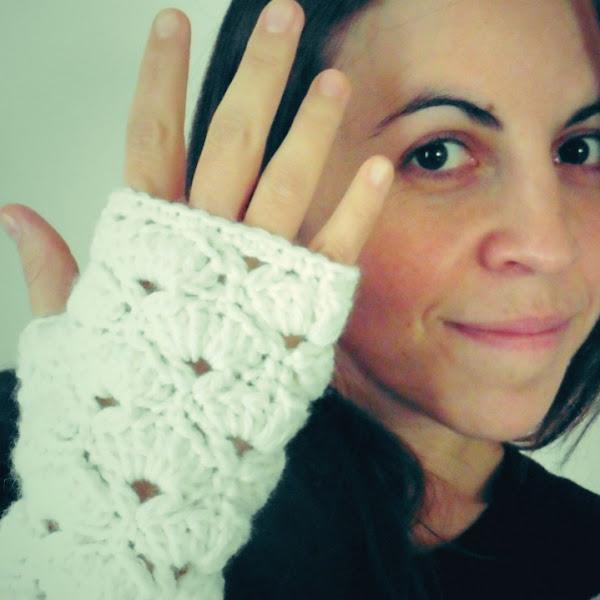 Guantes de Abanicos a Crochet