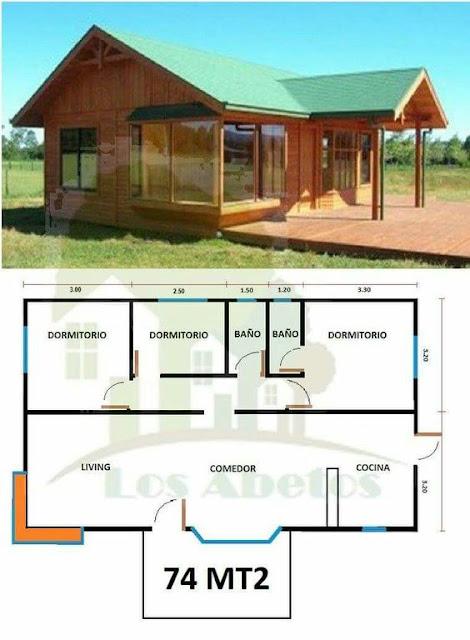 แบบบ้านไม้ยกพื้น 3 ห้องนอน