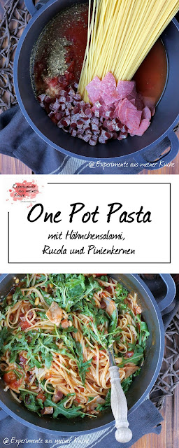 One Pot Salami Pasta | Rezept | Nudeln | Kochen