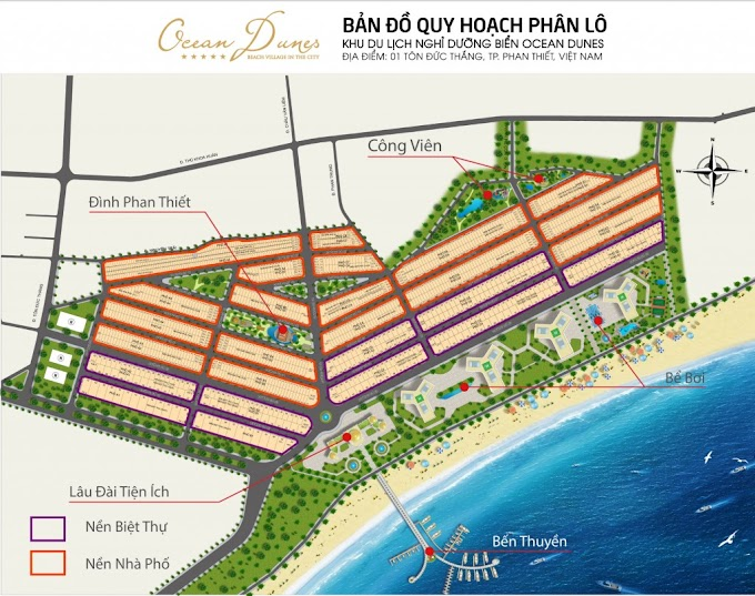 Bán lô N4-06 Phố biển Rạng Đông - Ocean Dune Phan Thiết