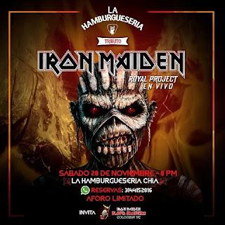 Concierto Tributo A Iron Maiden por Royal Project ¡EN VIVO!