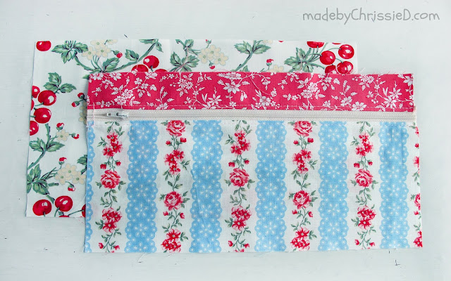 Double Zipper Pouch/Pencil Case Tute by Chris Dodsley @madebyChrissieD.com