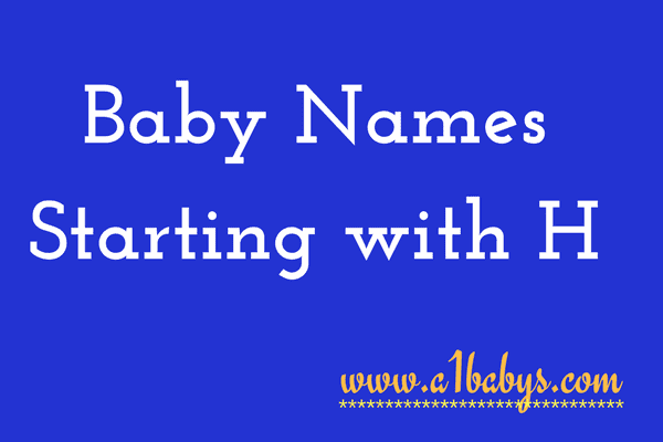 baby girl names starting with h