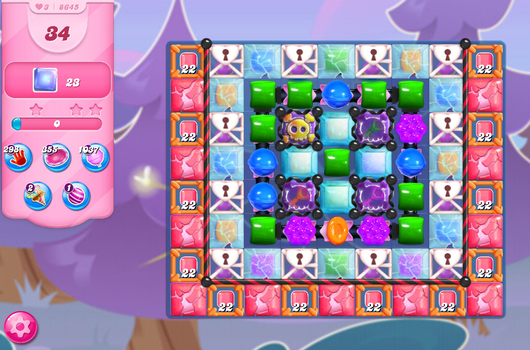 Candy Crush Saga level 8645