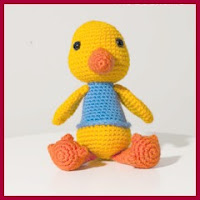 Adorable patito a crochet