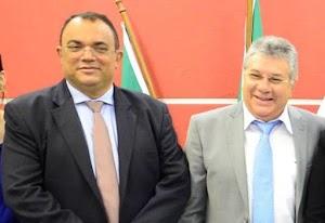 Prefeito e vice de Felipe Guerra encontram-se em Brasília na busca de recursos para o Município